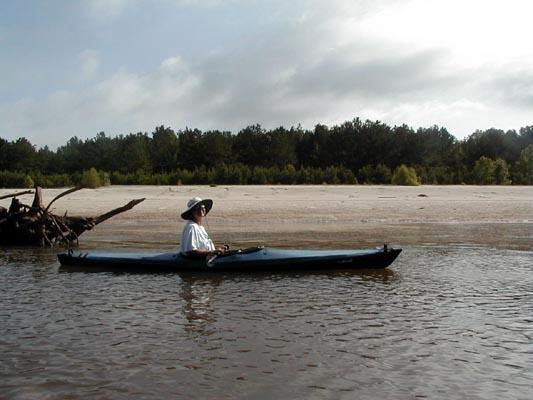 Lisa on the Sabine River