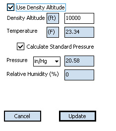 Exbal Density Altitude Screen