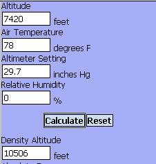 Density Altitude
